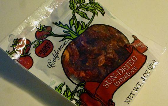 TJ sun dried tomato 3 oz pouch