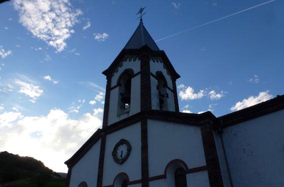 Valcarlos church tower skylight view