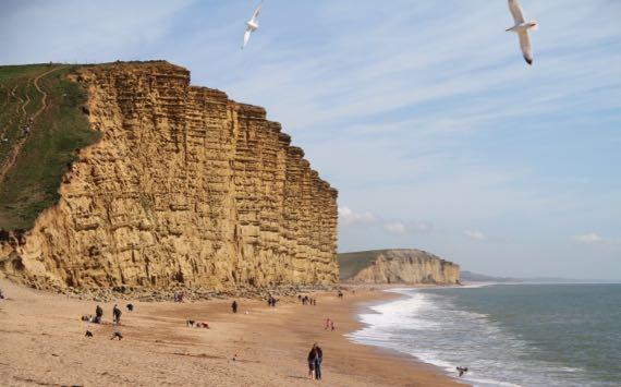 West Bay Jurassic cliff