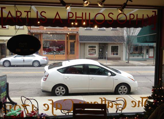 Art is a philosophy window gallery cafe