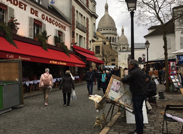 Artist setting up Place du Tertre