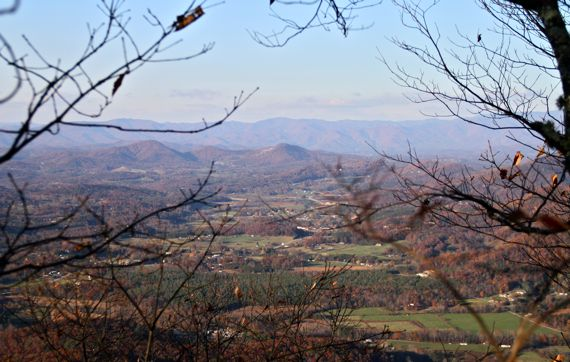 Autumn view from Brasstown trail