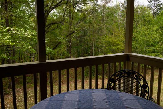 Balcony woods watching