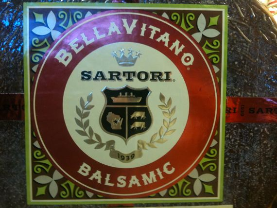 Bellavitano balsamic wheel label