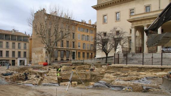 Below street archaeology