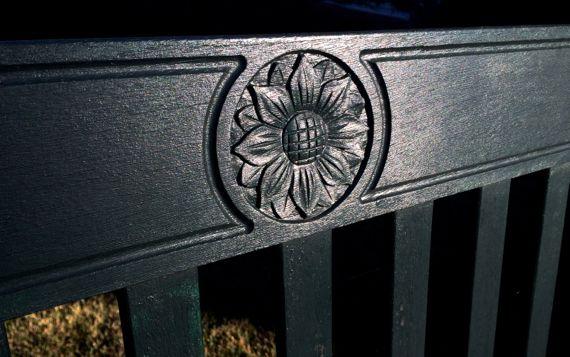 Bench back detail