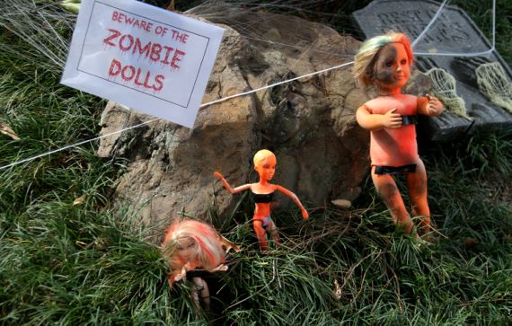 Beware zombie dolls daytime