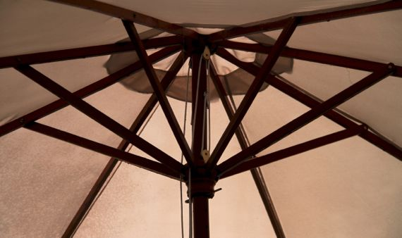 Big patio umbrella interior