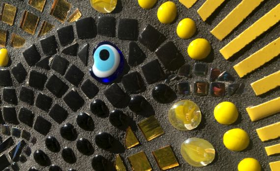 Blackbird mosaic