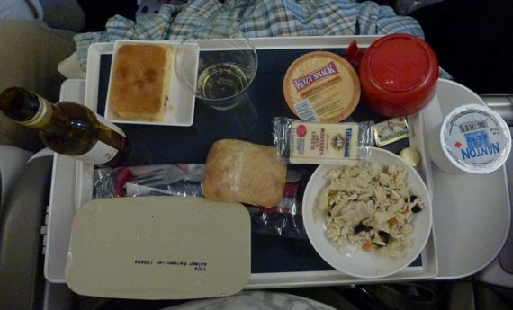 Blond French food on AirFrance