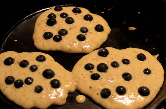 Booberry pancake trio