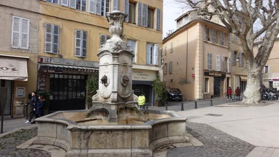 Brass lion fountain