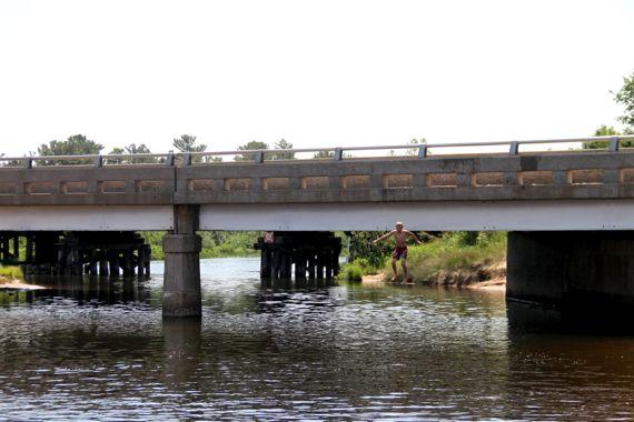 Bridge water jump