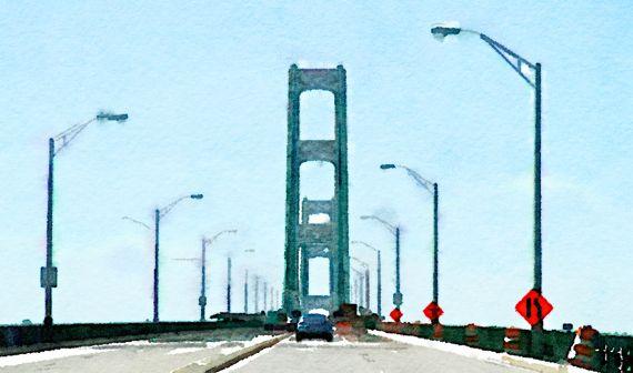 Bridge watercolour
