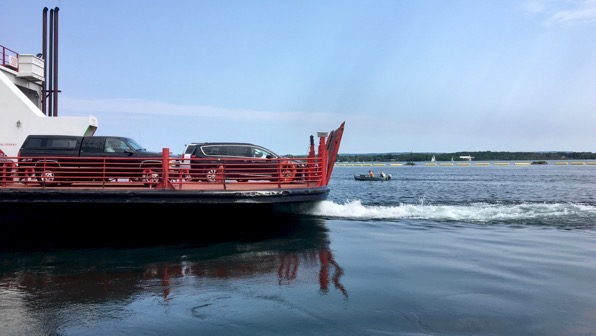 Car ferry goes out