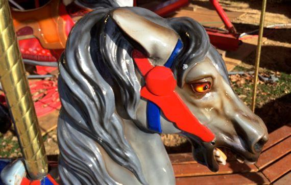 Carousel silver steed