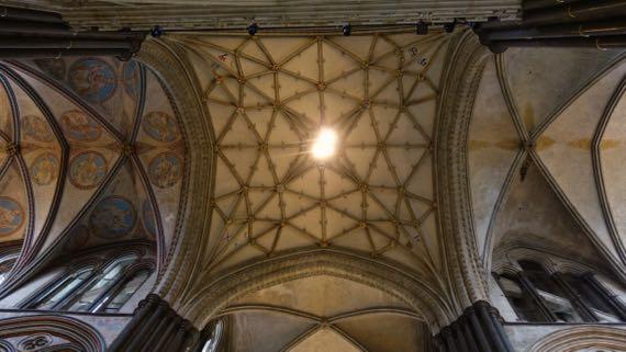 Ceiling under spire