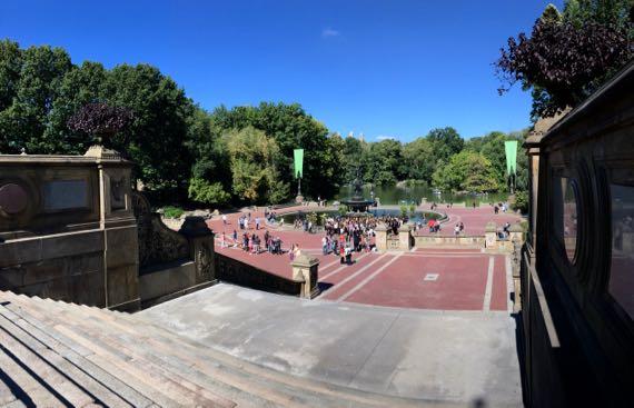 Central park terrace view