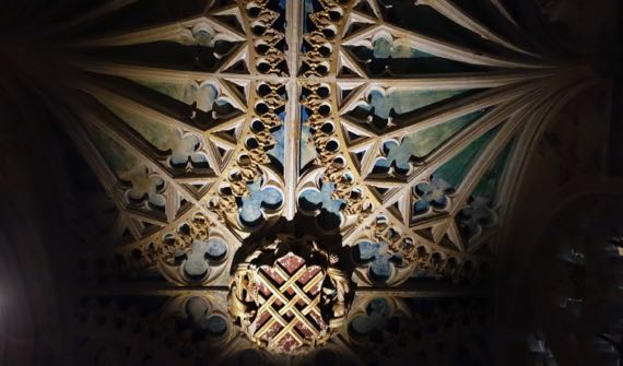 Chantry Chapel ceiling