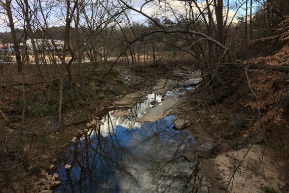 Clear creek bridge view