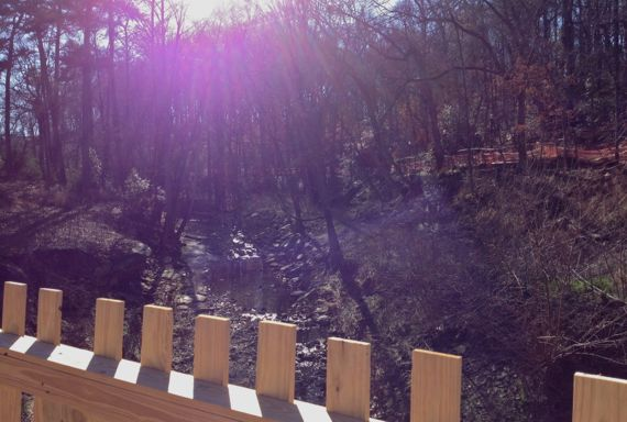 Clear creek from new beltline bridge