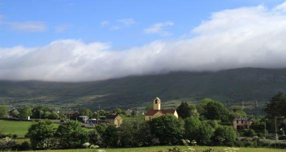 Cloud on mountain