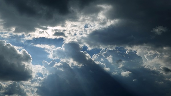 Clouds god rays