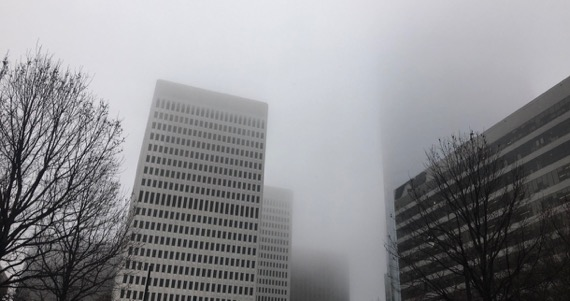 Clouds on midtown