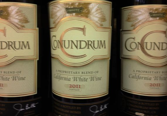 Conundrum wine label ill focused