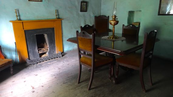 Cottage fireplace surround n table