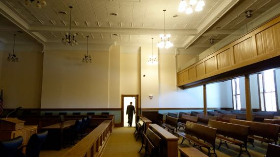 Courtroom partly remodeled