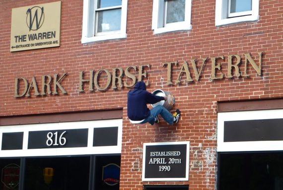 Dark horse tavern cleaning underway