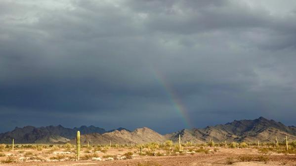 Desert rainbow