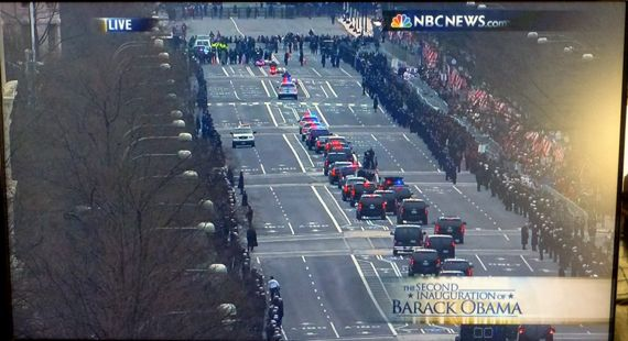 Drive by Washington inaugural