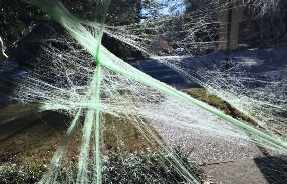 Fake green cobweb