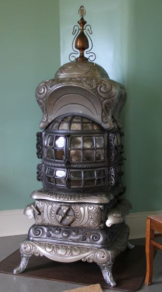 Fancy wood stove for parlor lighthouse