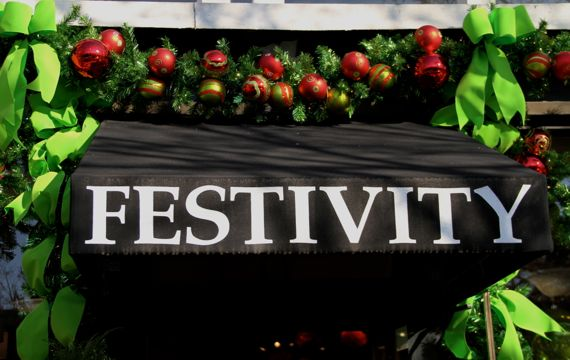 Festivity sign xmas ready