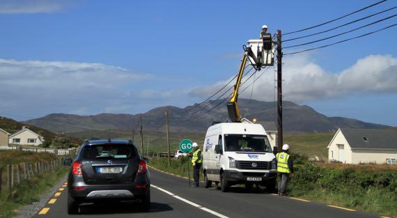 Fiber optics coming to rural Donegal