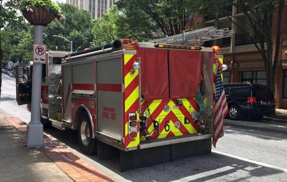 Fire engine flag