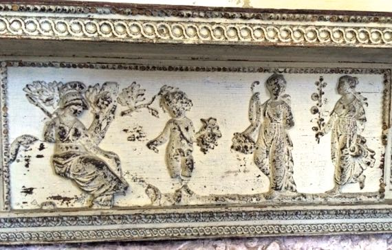 Fireplace mantel detail