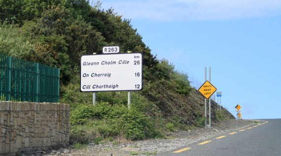 First Irish only place sign
