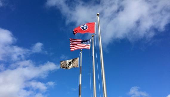 Flag trio