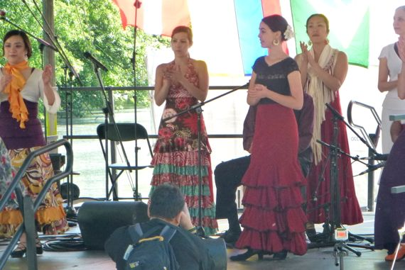 Flamenco in piedpk dogwood fest
