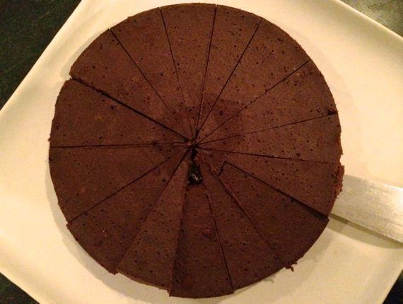 Flourless choc cake yum