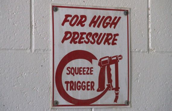 For high pressure sign