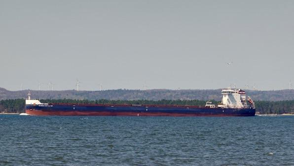 Freighter upbound