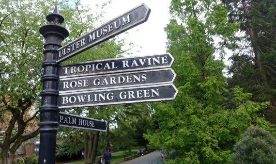 Garden signpost