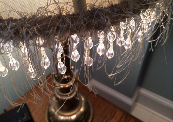 Hairy lamp shade