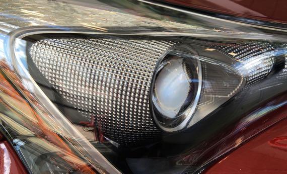 Headlight detail Prius