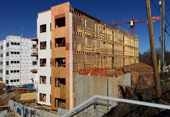 Housing under construction